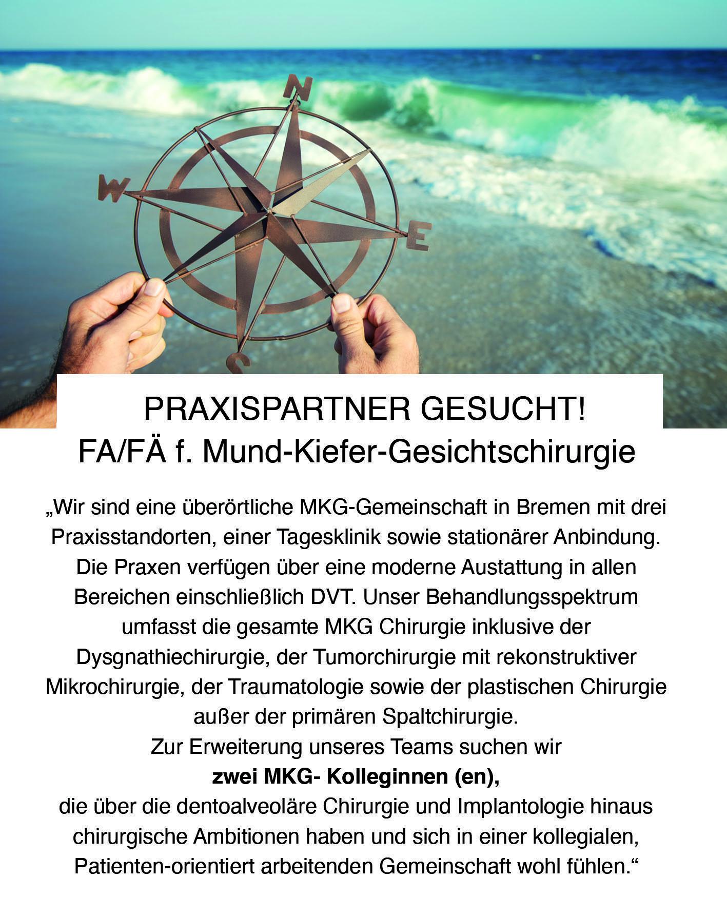 FA/FÄ f. Mund-Kiefer-Gesichtschirurgie Jan. 2021 - Mund. Kiefer. Gesicht. Bremen